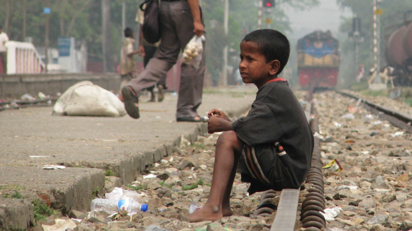 Street_Child,_Srimangal_Railway_Station