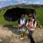 Hiking to a remote area in Nepal for a womens health camp. The sun was burning and unfortunately my umbrella broke