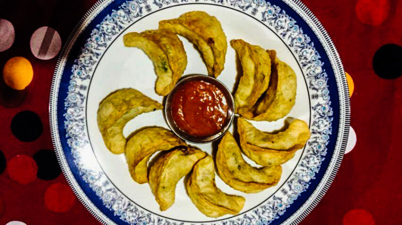 Momos, stuffed fried dumbling, Nepal