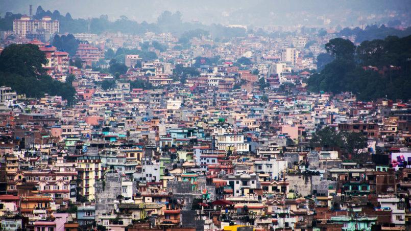 Kathmandu von Nagarjuna aus
