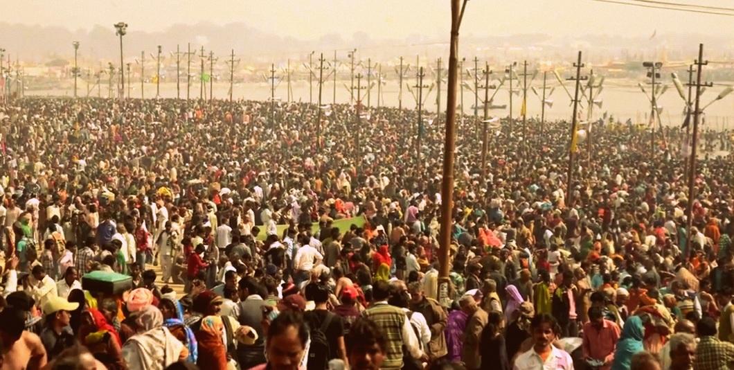 Versammlung beim Kumbh Mela
