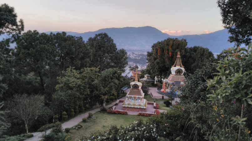05_Blick auf den Stupa-Garten