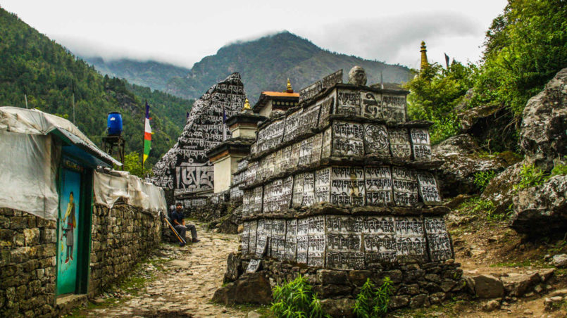 Mani stones, EBC trek, Nepal
