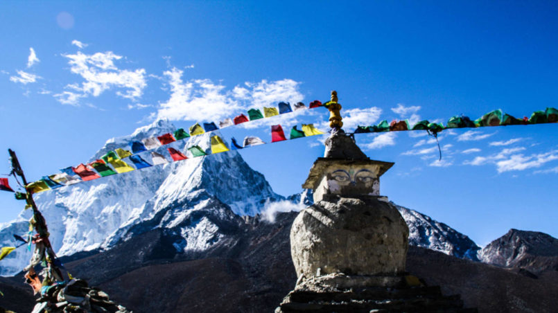 Prayer flags & Stupas, EBC trek, Nepal